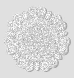 hand drawn decorative mandala vector image