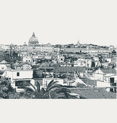 image of the city of rome the capital of italy vector image