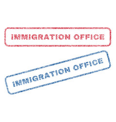 Immigration office textile stamps vector