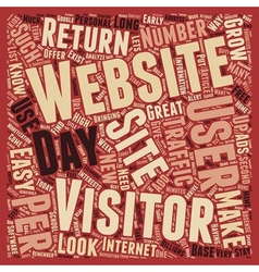 Increase Visitors Traffic To Your Website text vector