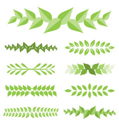 Laurel leaves icon set vector