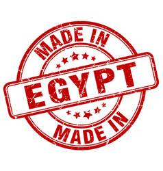 made in egypt red grunge round stamp vector image