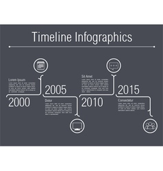 Minimal Timeline Infographics vector image