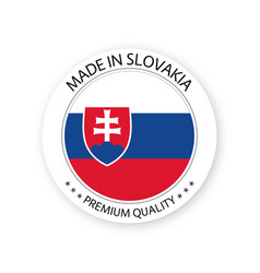 Modern made in slovakia label vector