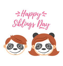 national siblings day greeting card vector image