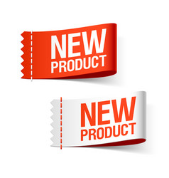 New product labels vector