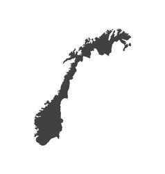 Norway map silhouette vector