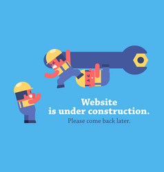 Page under construction design vector