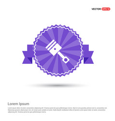 Paint brus icon - purple ribbon banner vector