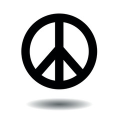 peace symbol sign hippie shape vector image