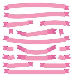 Pink ribbons vector