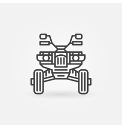 Quad bike icon or logo vector