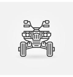 Quad bike icon or logo vector image