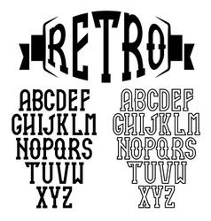 Retro alphabet for restaurant vector image