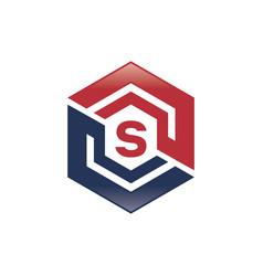 S letter shield logo vector