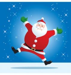 santa jumping vector image