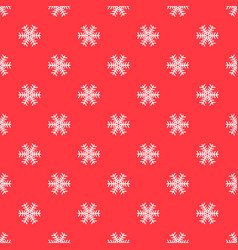 seamless abstract pattern with white snowflakes on vector image