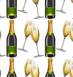 Seamless background with champagne vector