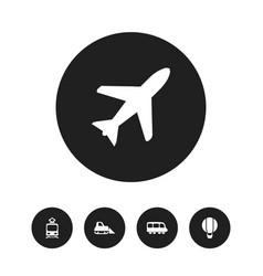 Set of 5 editable transport icons includes vector
