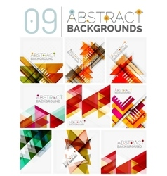 Set of modern geometric abstract shape backgrounds vector image