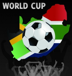 South African world cup vector