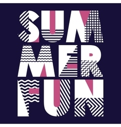 Summer Fun T-shirt Typography vector image vector image