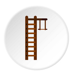 Swedish ladder icon circle vector