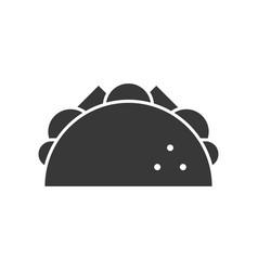 taco food and beverage set glyph design icon vector image