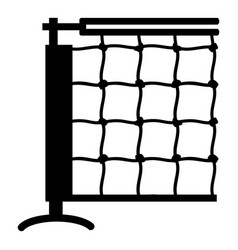 tennis net icon simple black style vector image