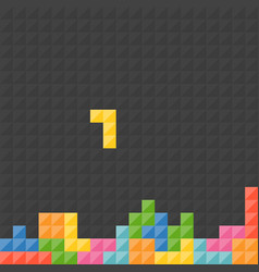 Tetris pieces with black background vector
