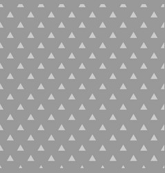 Tile pattern with triangles on grey background vector