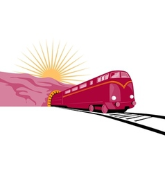 Train Coming out of tunnel vector