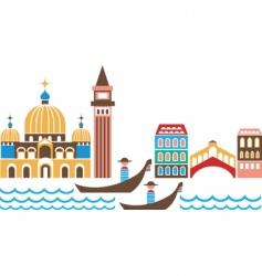 Venice landmarks vector