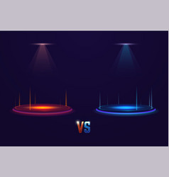 versus glowing portal vector image