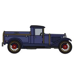 Vintage blue dustcart vector