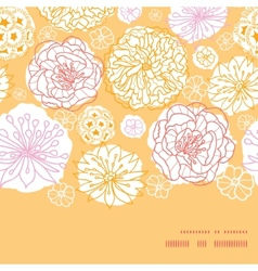 warm day flowers horizontal frame seamless pattern vector image