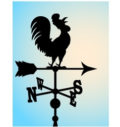 Weather vane silhouette vector image