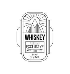 Whiskey vintage label design premium exclusive vector
