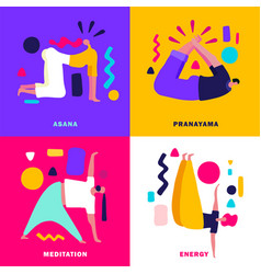 yoga 2x2 design concept vector image