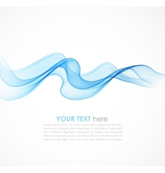 Abstract colorful blue background with curved vector image vector image