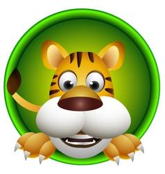 cute tiger head cartoon vector image