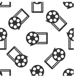 film reel and play video movie film icon vector image vector image