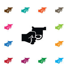 isolated gun icon revolver element can be vector image