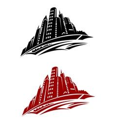 Modern city buildings vector image