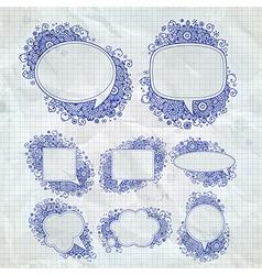 pen drawn bubbles vector image