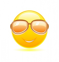 smiley with sunglasses vector image