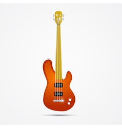 Abstract Orange Bass Guitar Isolated on Grey vector image