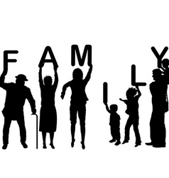 Family concept with children and parents holding vector image vector image