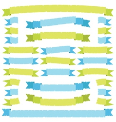green and blue ribbons vector image vector image