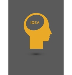 Human head creating a new idea Creative Idea vector image